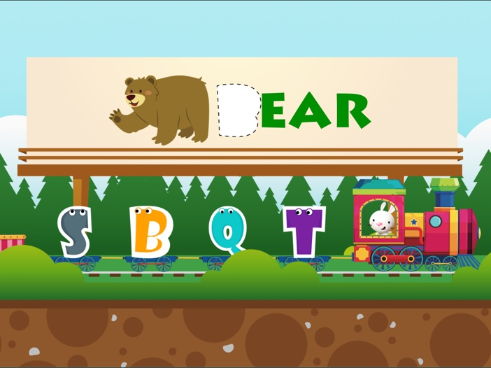 ABC Train: Learn Alphabet Letters and Animals