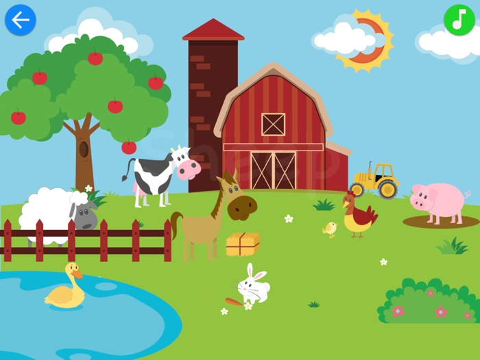 Match & Learn: Farm Animals & More Game