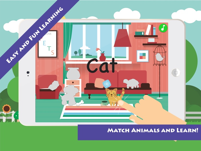 Match & Learn: House Pets